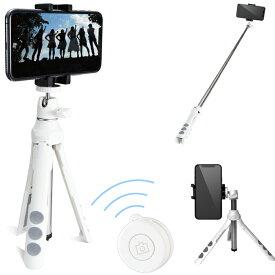 スマートフォン用 / 2way三脚 / Bluetoothリモコン付 / ホワイト カメラ関連 ( スマホ ) エレコム ELECOM P-STSRWH