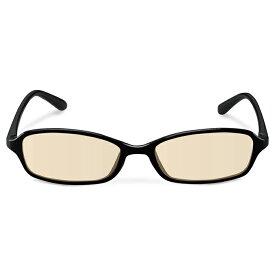 ブルーライトカット眼鏡 / ブラウンレンズ / スクエアフレーム / ブラック スタンダード ( PCメガネ・光学機器 ) エレコム ELECOM G-BUB-S02BK