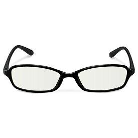 ブルーライトカット眼鏡 / クリアレンズ / スクエアフレーム / ブラック スタンダード ( PCメガネ・光学機器 ) エレコム ELECOM G-BUC-S02BK