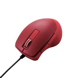 BlueLEDマウス / TIPS AIR / 有線 / 静音5ボタン / レッド 有線マウス エレコム ELECOM M-TP20UBSRD