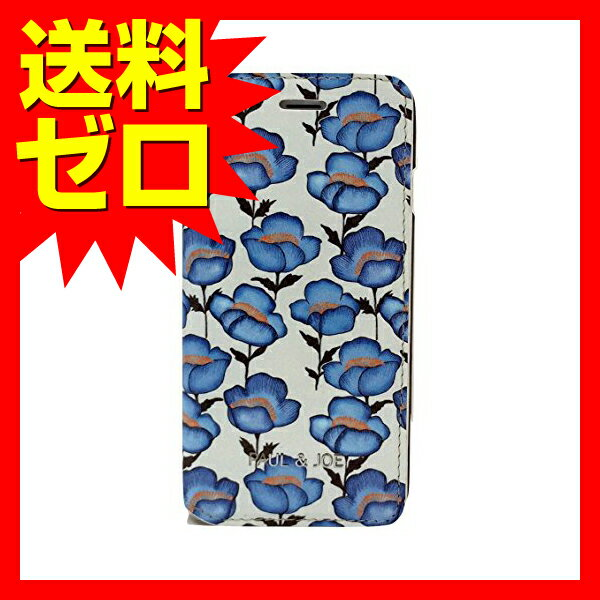 iPhone 7 Plus ケース PAUL&JOE PU エアージェイ アイフォン7 プラス PU Leather Case - Turquoise Flowers
