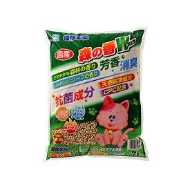 アース・ペット 猫砂楽園 森の香りW ( ダブル ) 7L 猫砂 猫 ネコ ねこ キャット cat ニャンちゃん※商品は1点 ( 個 ) の価格になります。