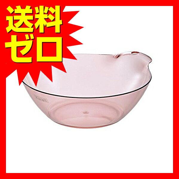 リッチェル カラリ湯おけHG クリアピンク 約25×29.5×9.5cm