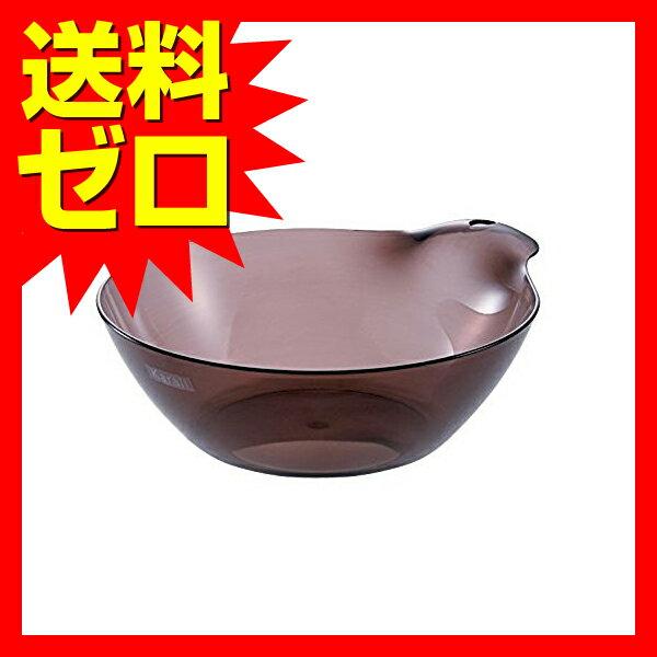 リッチェル カラリ湯おけHG スモークブラウン 約25×29.5×9.5cm 【送料無料】