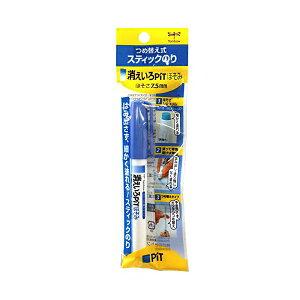 トンボ鉛筆 スティックのり 消えいろピットほそみ PT-PC おまとめセット 【 3個 】