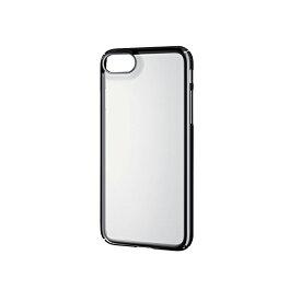 エレコム iPhone8 ケース カバー ハード ポリカーボネート素材 サイドメッキ 【 端子・ボタン回りまで保護する設計 】 iPhone7 対応 ブラック PM-A17MPVKMBK シェルカバー / 極み / サイドメッキ / ブラック 【 あす楽 】 ELECOM