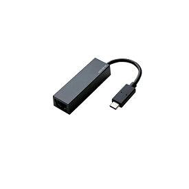 エレコム 有線LANアダプタ USBタイプC ギガビット対応 ブラック EDC-GUC3-B 有線LANアダプタ / Giga対応 / USB3.1 / Type-C / ブラック 【 あす楽 】 ELECOM