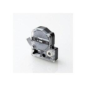 Color Creation テプラ テープ 互換 テプラPRO 12mm ビビット ブラック 8m 白文字 CTC-KSD12K エレコム テプラPRO用互換テープ / ビビッド 12mm幅 ELECOM