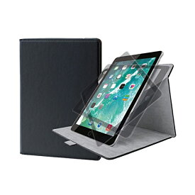 エレコム iPad ケース 新型 9.7 2018 ( 第6世代・新しい9.7インチ ) / 2017 ソフトレザー フラップカバー 360度回転 ブラック TB-A179360BK 9.7インチ iPad 2017年モデル / フラップカバー / ソフトレザー / ブラック ELECOM 【あす楽】