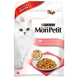 モンプチ バッグ 成猫用 5種のヘルシーブレンド サーモン・白身魚・ほうれん草・大豆・お米味 600g [キャットフード・ドライ] キャットフード 猫 ネコ ねこ キャット cat ニャンちゃん※商品は1点 ( 個 ) の価格になります。