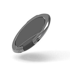 エレコム スマホ リング ホールドリング [ポケットの出し入れなどでも邪魔にならない極薄設計] スタンド機能 落下防止 ブラック P-STRSLBK スマートフォン用ストラップ / フィンガーリング / 薄型 / 【 あす楽 】 ELECOM