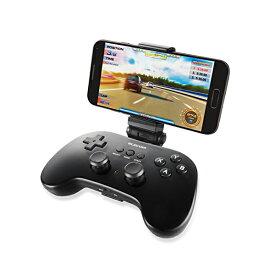 エレコム ゲームパッド ゲームコントローラー ブルートゥース VR / AR対応 アンドロイド 12ボタンPS系ボタン配列 スマホホルダー付 ブラック JC-VRP01BK スマホ用 / Bluetoothゲームパッド / 12ボタン / ホルダー付 / 【 あす楽 】 ELECOM