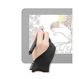 エレコム 2本指グローブ 手袋 Mサイズ 左利き右利き両用 TB-GV1M 液晶ペンタブレット用グローブ / ELECOM