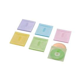 エレコム DVD BD CD ケース 不織布ケース 両面収納 タイトルカード付 30枚入 60枚収納 5色アソート CCD-NIWB60ASO