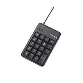 エレコム テンキーパッド 有線 1000万回高耐久 M USBポート付 ブラック TK-TCM012BK テンキー テンキーボード TK-TCM012 Mサイズ メンブレン USB 2.0 HUB付 ELECOM 【 あす楽 】