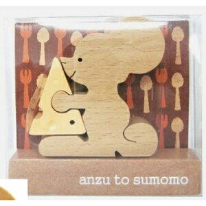 組み木 あんずとすもも ねずみのチーズ 組木 パズル 知育玩具 おもちゃ 玩具 木製 インテリア かわいい
