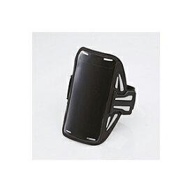 ELECOM アームバンドケース ケーブル巻取機能 5.5インチ対応 iPhone6s / 6s Plus対応 タッチ操作可能 滑り止め付 スポーツ ランニング ブラック P-ABC02BK エレコム スマートフォン用スポーツアームバンド ( Lサイズ ) 【 あす楽 】