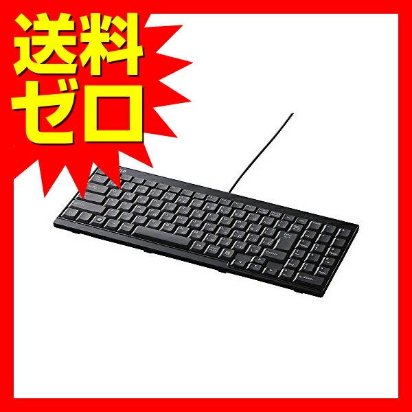 バッファロー iBUFFALO-USB接続 有線スリムキーボード ブラック BSKBU14BK 【送料無料】