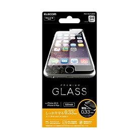 ELECOM iPhone 6s Plus / 6 液晶保護ガラスフィルム [3D touch 最高硬度9H 薄型0.33mm ラウンドエッジ加工 飛散防止設計] PM-A15LFLGG03 エレコム iPhone6s / 6 Plus用液晶保護ガラス / 0.33mm 【 あす楽 】