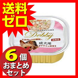 デビィ成犬ササミ野菜100g ≪おまとめセット【6個】≫