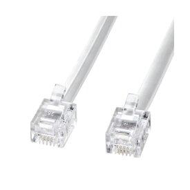 サンワサプライ モジュラーケーブル ( 白 ) TEL-N1-5N2 モジュラーケーブル ( ホワイト・5m ) 【 あす楽 】