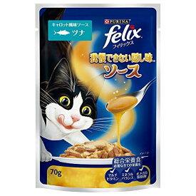 フィリックス 我慢できない隠し味 ソース キャロット風味ソース ツナ 70g ネスレ日本 猫 キャット 猫用 猫フード キャットフード