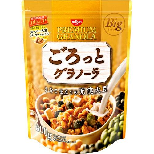 日清シスコ ごろっとグラノーラ きなこ仕立ての充実大豆 500g※商品は1点(個)の価格になります。