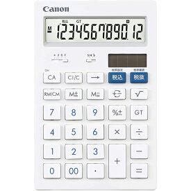 キヤノン 12桁 卓上サイズ 電卓 HS-121T 抗菌 キレイ電卓 CANON