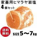 予約販売 アニマルソルト 5-7kg 4個セット 家畜用ヒマラヤ岩塩 【特大】【お徳用サイズ】