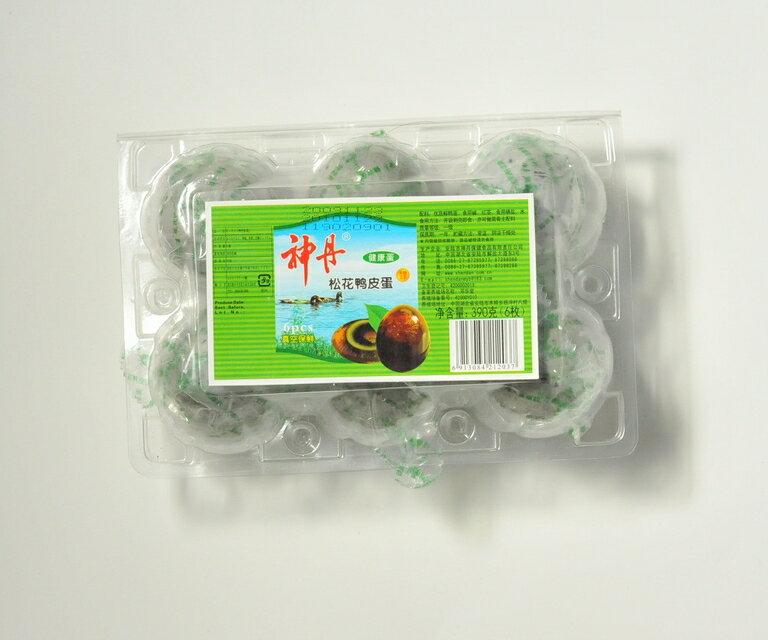 ピータン 皮蛋 中国のブランド品 神丹ピータン 6個入り