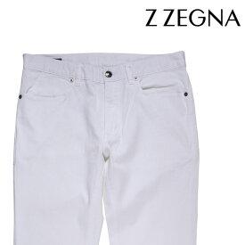 【34】 Z.ZEGNA ジーゼニア コットンパンツ メンズ ホワイト 白 並行輸入品 メンズファッション 男性用 ビジネス ズボン 大きいサイズ 日本未入荷 ラッピング無料 送料無料