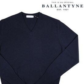 【52】 BALLANTYNE バランタイン Vネックセーター D2P001 メンズ 秋冬 カシミヤ100% ネイビー 紺 並行輸入品 メンズファッション 男性用 ビジネス ニット 大きいサイズ 日本未入荷 ラッピング無料 送料無料