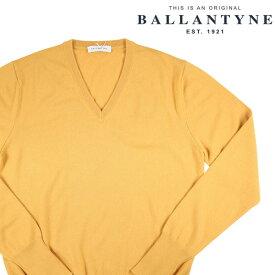 【52】 BALLANTYNE バランタイン Vネックセーター D2P001 メンズ 秋冬 カシミヤ100% イエロー 黄 並行輸入品 メンズファッション 男性用 ビジネス ニット 大きいサイズ 日本未入荷 ラッピング無料 送料無料