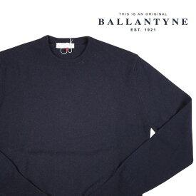 【52】 BALLANTYNE バランタイン 丸首セーター D2P000 メンズ 秋冬 カシミヤ100% ネイビー 紺 並行輸入品 メンズファッション 男性用 ビジネス ニット 大きいサイズ 日本未入荷 ラッピング無料 送料無料