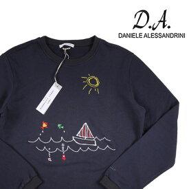 【XL】 DANIELE ALESSANDRINI ダニエレアレッサンドリーニ トレーナー メンズ 刺繍 ネイビー 紺 並行輸入品 メンズファッション 男性用 ビジネス 日本未入荷 ラッピング無料 送料無料