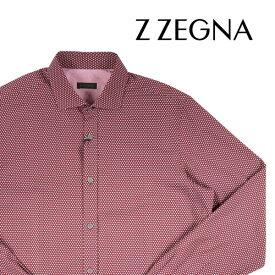 【44】 Z.ZEGNA ジーゼニア 長袖シャツ メンズ レッド 赤 並行輸入品 メンズファッション 男性用 ビジネス カジュアルシャツ 大きいサイズ 日本未入荷 ラッピング無料 送料無料