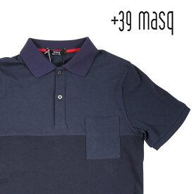+39 masq(マスク) 半袖ポロシャツ MTA060030 ネイビー S 15560n 【S15578】