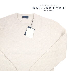 【52】 Ballantyne バランタイン 丸首セーター H2P00014W18 メンズ 秋冬 ホワイト 白 並行輸入品 メンズファッション 男性用 ビジネス ニット 大きいサイズ 日本未入荷 ラッピング無料 送料無料