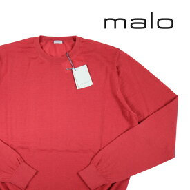 【48】 malo マーロ 丸首セーター メンズ カシミヤ100% ローズピンク 並行輸入品 メンズファッション 男性用 ビジネス ニット 日本未入荷 ラッピング無料 送料無料