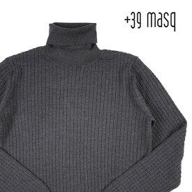 【M】 +39 masq マスク タートルネックセーター メンズ 秋冬 グレー 灰色 並行輸入品 メンズファッション 男性用 ビジネス ニット 日本未入荷 ラッピング無料 送料無料