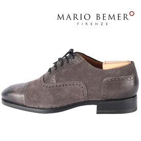 【41】 mario bemer マリオ・ベーメル 革靴 メンズ ハンドメイド グレー 灰色 並行輸入品 メンズファッション 男性用 ビジネス 日本未入荷 ラッピング無料 送料無料