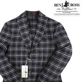 【48】 BEN J.CROSS ベン・ジェイクロス ジャケット メンズ 秋冬 チェック ネイビー 紺 並行輸入品 メンズファッション 男性用 ビジネス アウター トップス 日本未入荷 ラッピング無料 送料無料