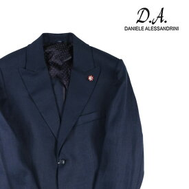 【50】 Daniele Alessandrini ダニエレアレッサンドリーニ ジャケット メンズ 春夏 リネン100% ネイビー 紺 並行輸入品 メンズファッション 男性用 ビジネス アウター トップス 日本未入荷 ラッピング無料 送料無料
