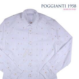 POGGIANTI 1958(ポジャンティ 1958) 長袖シャツ 714-02 ホワイト 41 18057 【A18059】