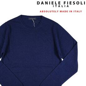 DANIELE FIESOLI(ダニエレフィエゾーリ) 丸首セーター DF0096 ネイビー L 18195 【W18231】
