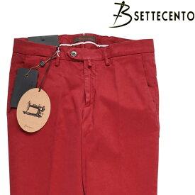 【34】 B SETTECENTO ビーセッテチェント コットンパンツ メンズ レッド 赤 並行輸入品 メンズファッション 男性用 ビジネス ズボン 大きいサイズ 日本未入荷 ラッピング無料 送料無料