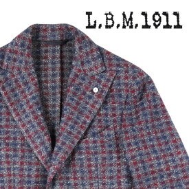 L.B.M.1911(エルビーエム) ジャケット 85092 レッド x ネイビー 50 18676 【W18678】