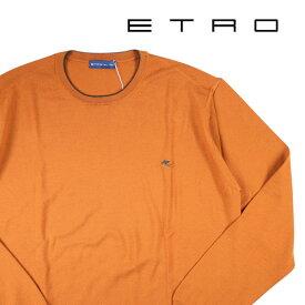 【XL】 ETRO エトロ 丸首セーター メンズ 秋冬 オレンジ 並行輸入品 メンズファッション 男性用 ビジネス ニット 日本未入荷 ラッピング無料 送料無料