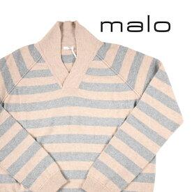 malo(マーロ) セーター UMB137 ベージュ x グレー 56 【W19327】