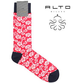 alto milano アルトミラノ ソックス メンズ 花柄 レッド 赤 並行輸入品 メンズファッション 男性用 ビジネス 日本未入荷 ラッピング無料 送料無料